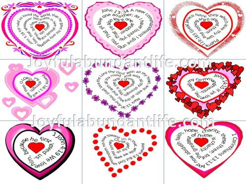 Heart Shaped Bible Verse Valentines – Free to Print
