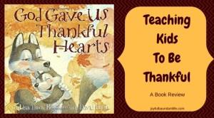 Teaching Kids To Be Thankful