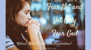 Fear Not And Yet Only Fear the Lord – Instilling Biblical Truths Into My Grandchildren