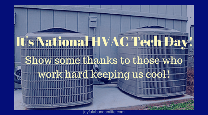A Tribute to the Best HVAC TECH I know on National HVAC Tech Day