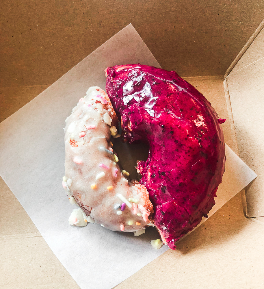 Donuts from our Indulge Boise Food Tour on our mystery trip