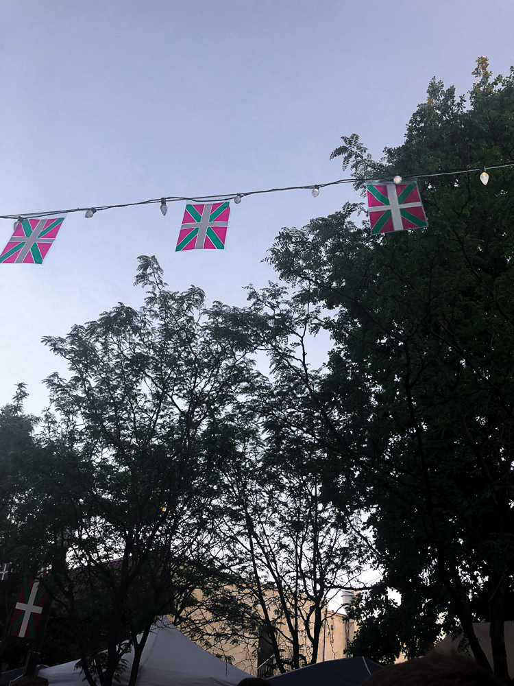 Flags at the Basque Festival in Boise