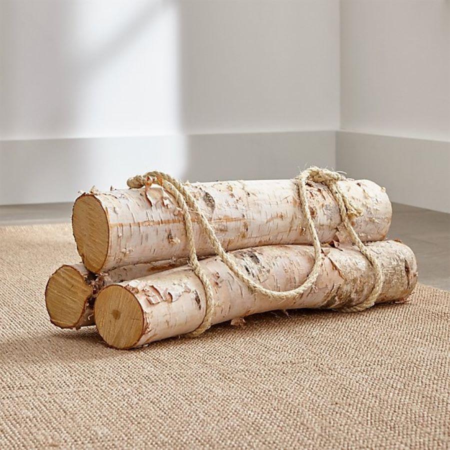 Crate and Barrel Decorative Birch Logs