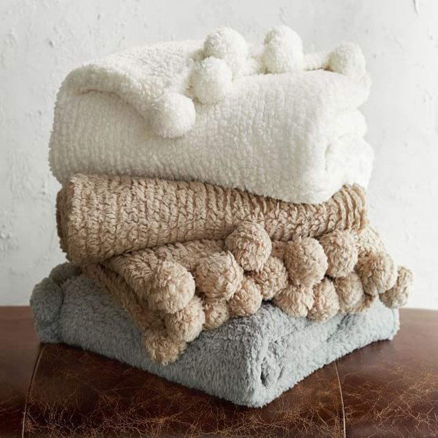 Pottery Barn Pom Pom Blankets