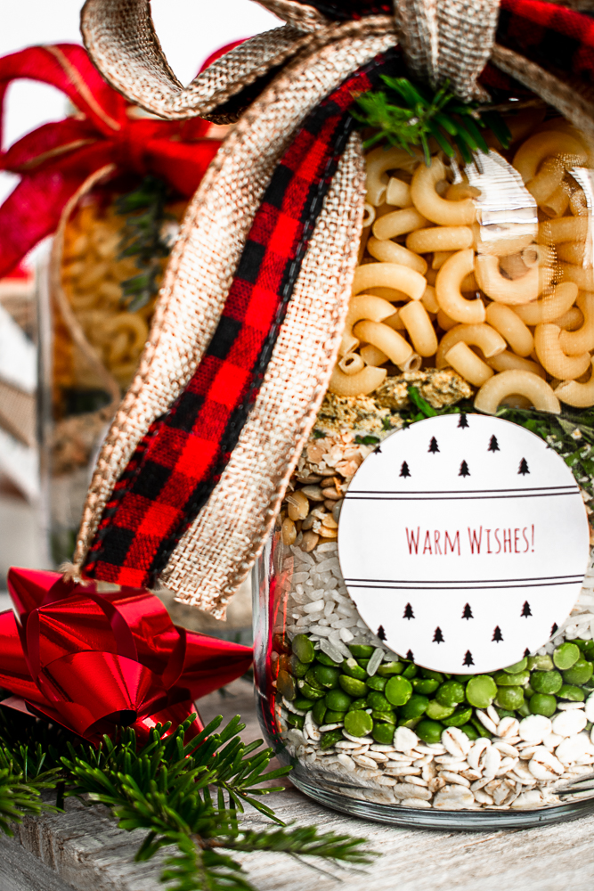 Soup mix in a jar for an easy Christmas present