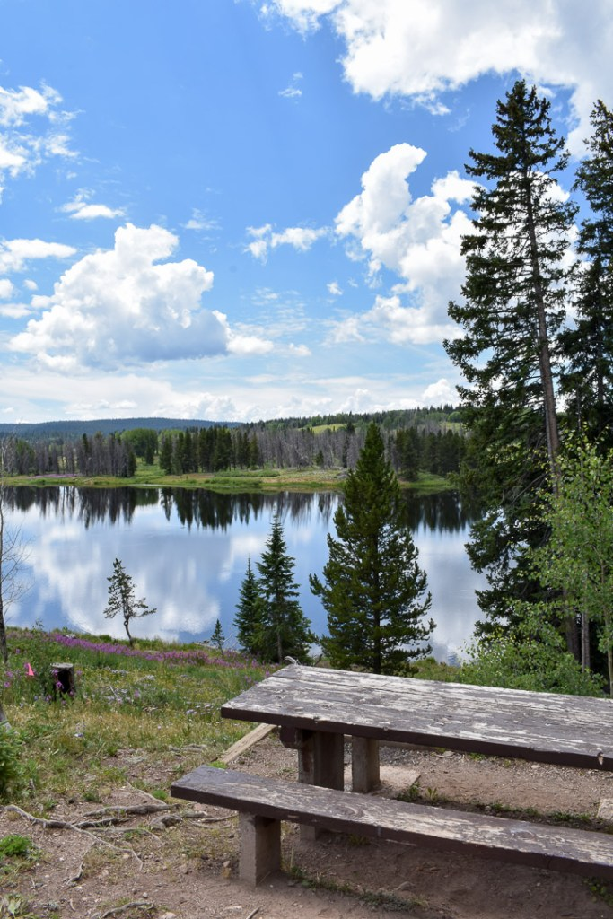 Lake on top of Rabbit Ears Pass in Colorado