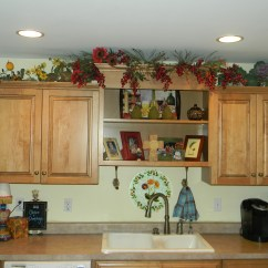 Greenery Above Kitchen Cabinets Micro Units Decorating Cabinets- Before And After ...