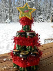 BEER & POP CAN CHRISTMAS TREE GIFT! JOYFUL DAISY
