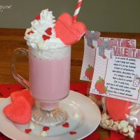 VALENTINE COCOA- Strawberry White Chocolate Cocoa Mix & Packaging