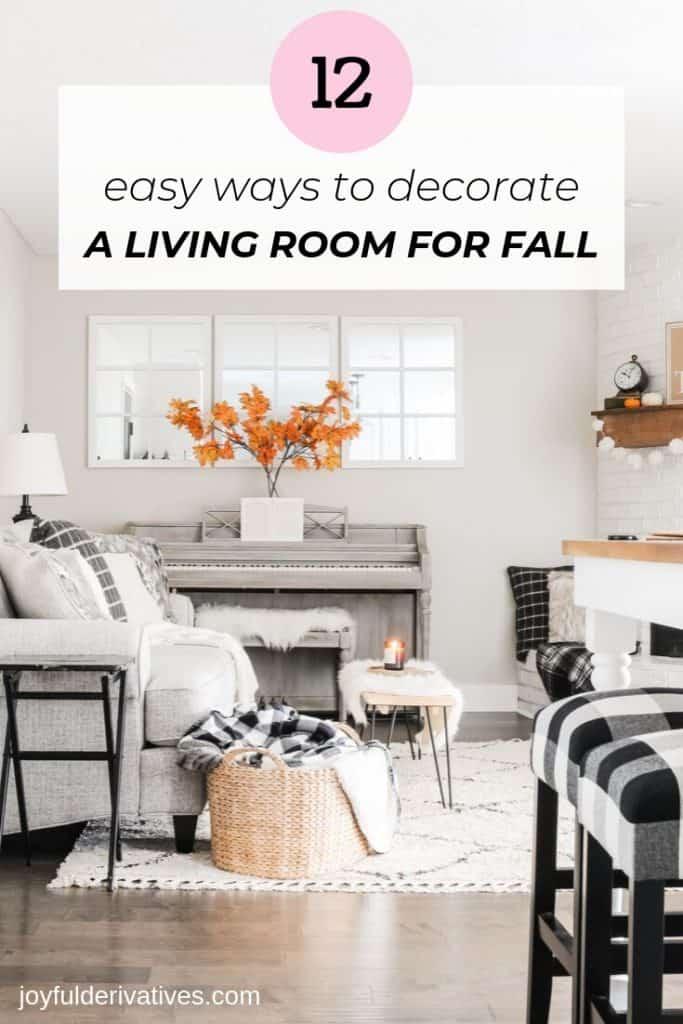 easy fall living room decor ideas