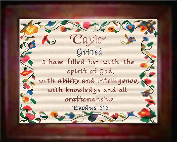 Name Blessings - Taylor - Personalized Names with Meanings ...