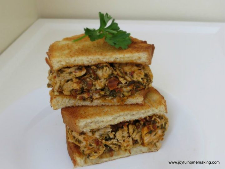 pesto sundried tomato sandwich