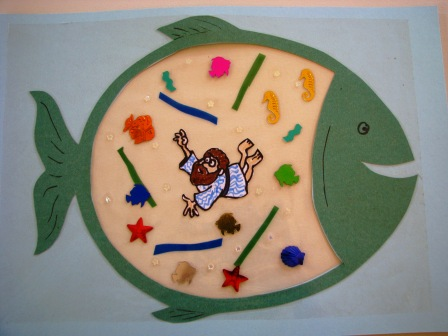 Jonah In The Big Fish A Craft Activity For Children Joyful Jewish
