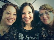 On the plane with Leigh and Gyn