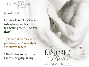A Restored Man - teaser image. (location: in between blurb and exclusive excerpt, please)