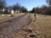 Train tracks behind Heidi's house