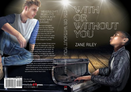 Paperback cover for 'With or Without You' by Zane Riley