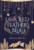 lava red feather blue cover