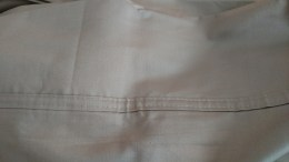 Pillow cuff to be seam ripped