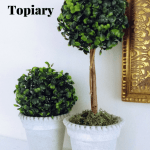 Diy Faux Boxwood Topiaries Joyfully Treasured
