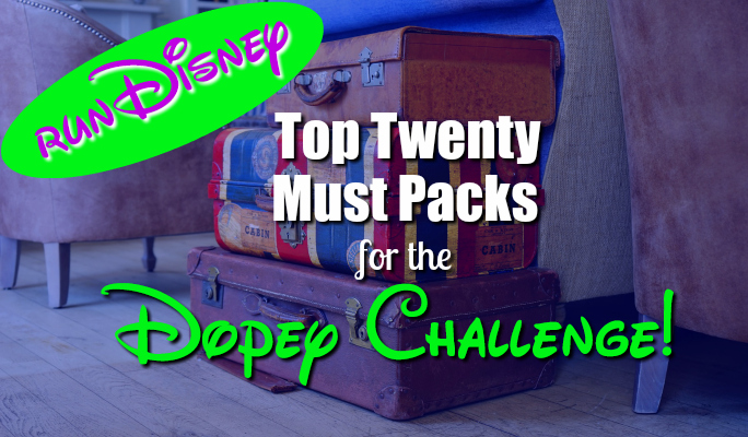 Top Twenty runDisney Must Pack Items!