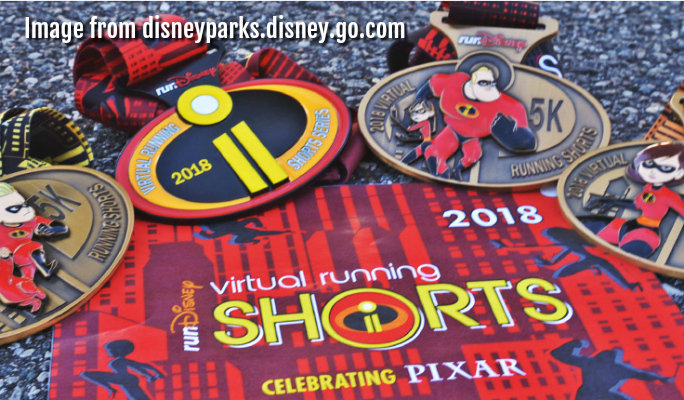 runDisney's 2018 Virtual Running Shorts celebrating Pixar!