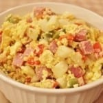 Veggie and Ham Egg Scramble