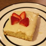 Sour Cream Sheet Cake
