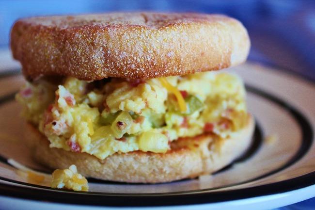 Spicy Scrambled Egg Sandwich Joyful Mommas Kitchen