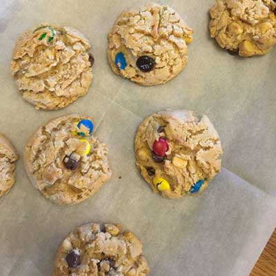 Peanut Butter and Candy Cookies