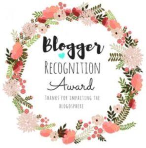 Blogger Recognition Award logo