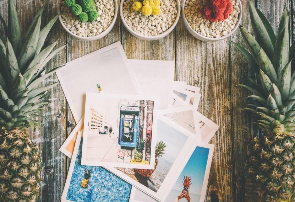 photos on the table