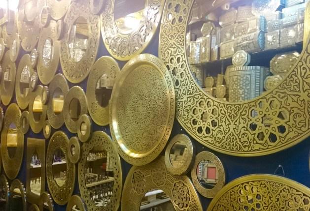 Or a brass framed mirror....