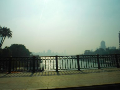 Crossing from Giza to Cairo across the Nile River.
