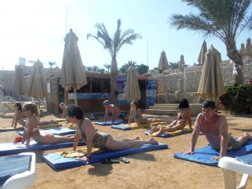 Or some beach yoga......