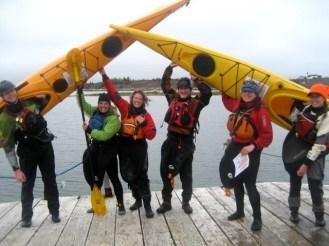 My kayaking friends!!! Karl, me, Eleanor, Peter, Lyse and Erin!!!