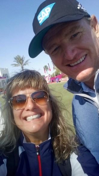 Selfie with Ernie Els
