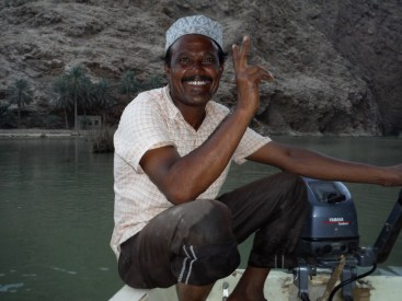 Our boat taxi driver!!