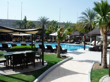 The pool......