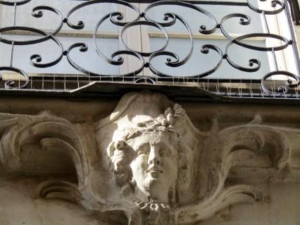 Statue above the door.