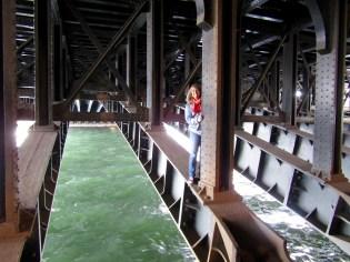 Under the Pont Alexandre III Bridge.