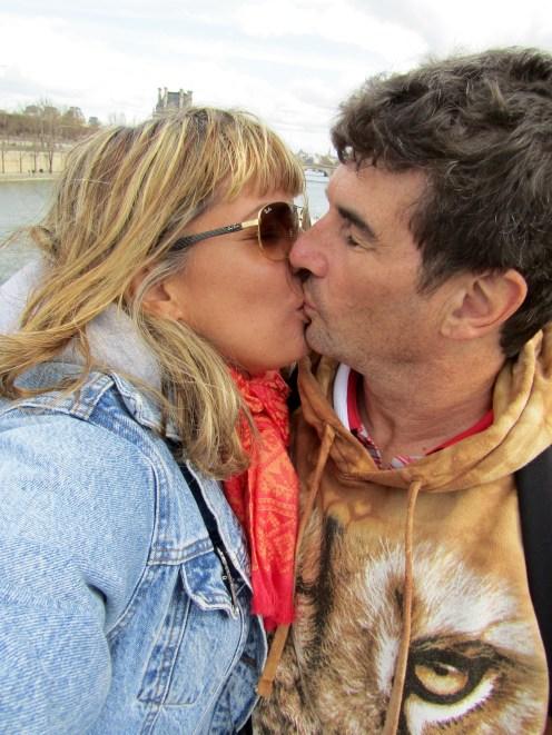 Kissing at the Love Lock Bridge!!!