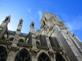 Flying buttresses and gargoyles.
