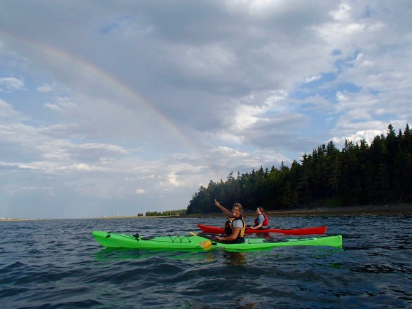 Paddling past Lawlor Island, Eastern Passage - A rainbow with 2 Ospreys chirping over us!!!