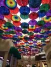 Umbrellas hanging in The Village
