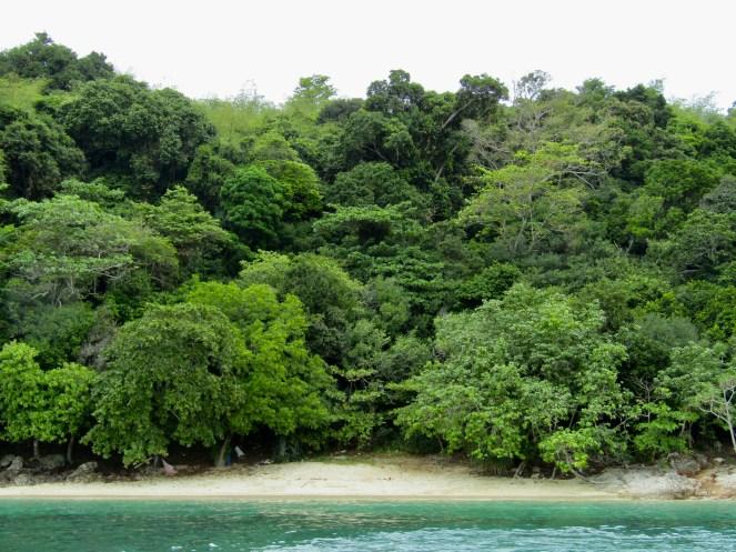 Small beach on Bamboo Island