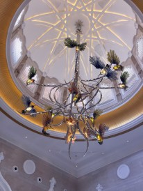 Hummingbird light fixture in the main lobby