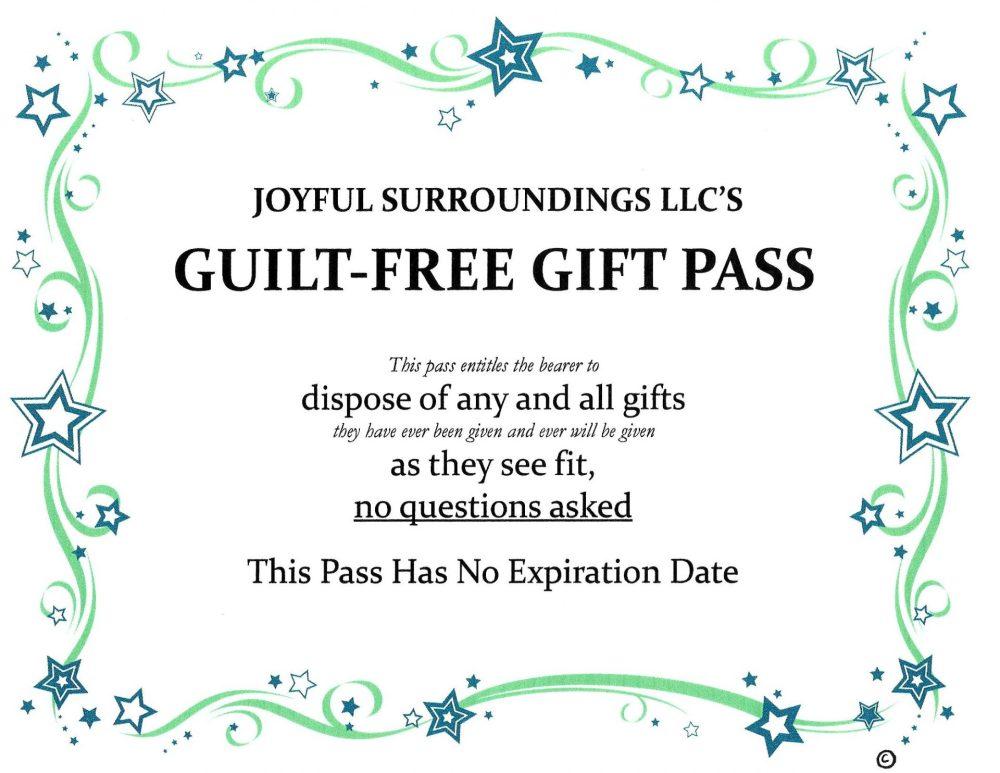 JS guilt free gift pass
