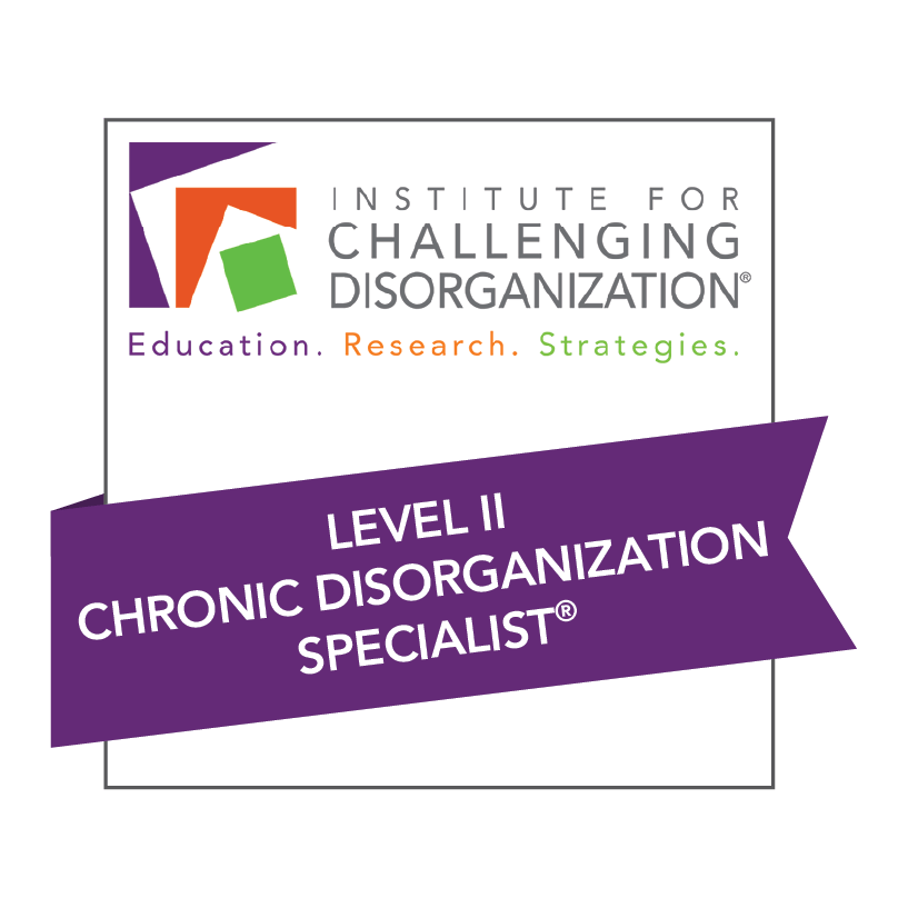 Lucy Kelly is a Level 2 chronic disorganization specialist