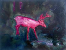Stag (Night Vision), 2012, oil/canvas, 14x18 inches